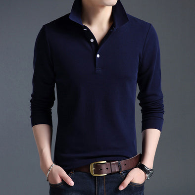 Mercerized Cotton Casual Polos Shirt - Attract Wear LLC