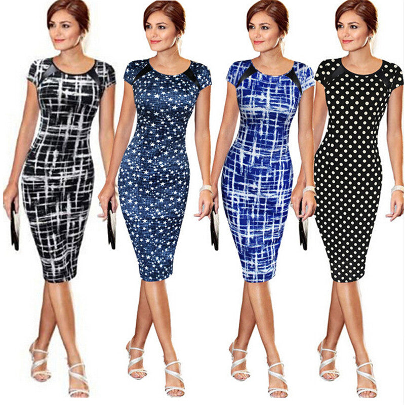 Sought-After New Women Bandage Bodycon Short Sleeve Party Midi Dress - Attract Wear