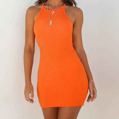 Sling Sleeveless Sexy Backless Basic Dresses - Attract Wear