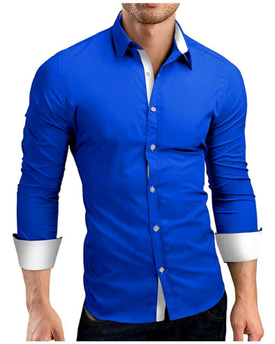 High Quality Long Sleeve Casual Shirts Casual Slim Fit 4XL - Attract Wear