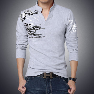2018 New Autumn Men's Tops Tees Brand Clothing Long Sleeve T-Shirts - Attract Wear