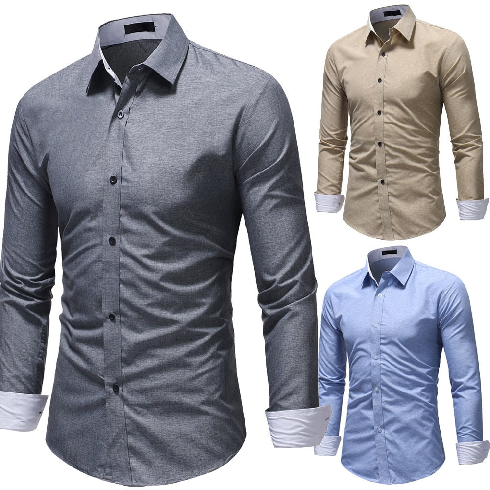 Formal Men Solid Slim Fit Shirts - Attract Wear