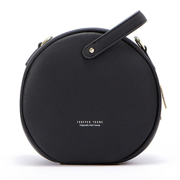 HOT Circular Women Leather Shoulder Bag - Attract Wear