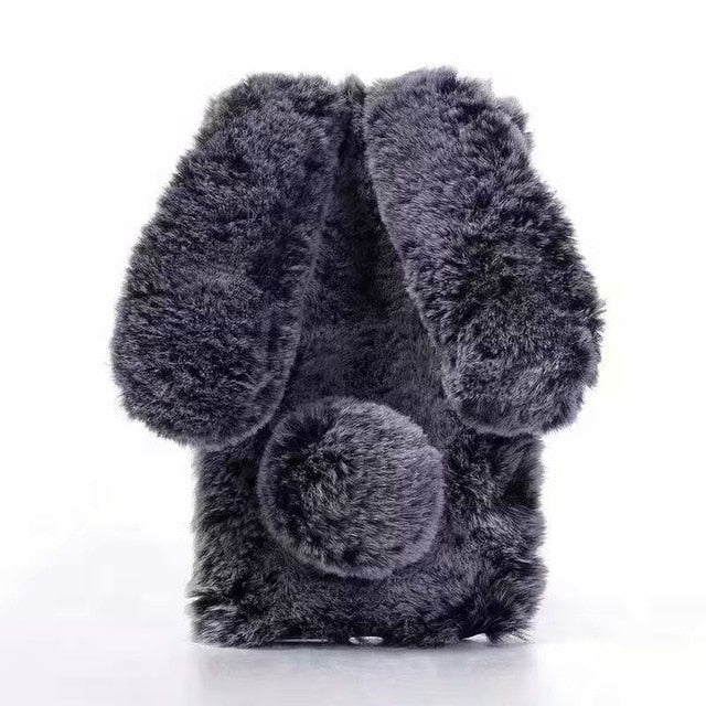 Lovely Rabbit Ears Fur Plush iPhone Case - Attract Wear
