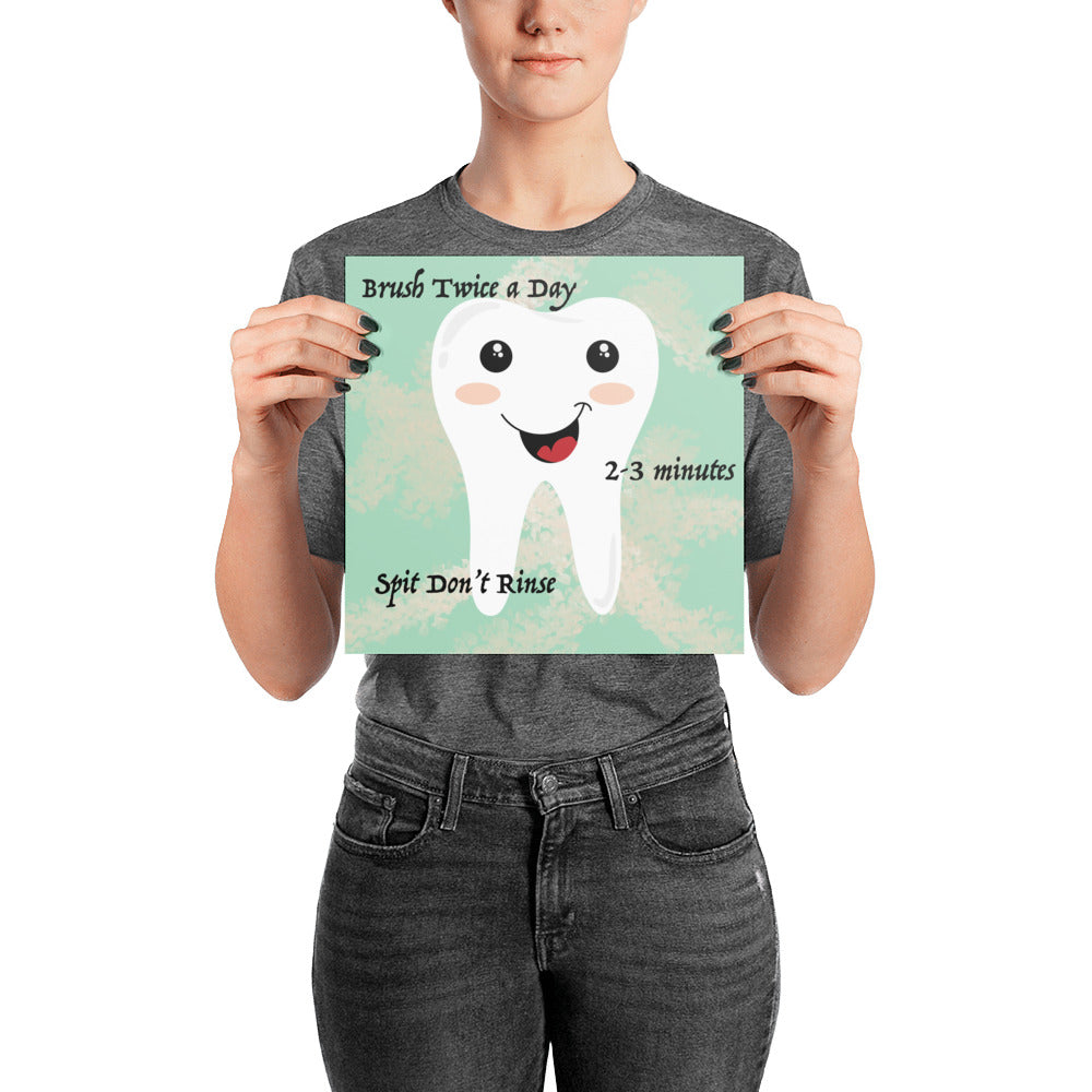 Simple Oral Hygiene Poster - Carious Tees