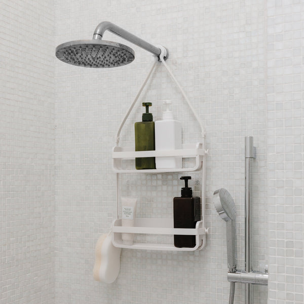 香港送貨|Delivery to HK | Umbra Flex 淋浴收納籃 Shower Caddy White | Umbra |Homie Living Mall 香港家居靈感購物