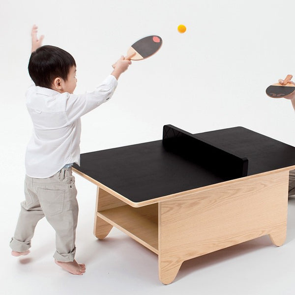 Huzi Table Tennis Set 迷你多功能乒乓球桌茶几