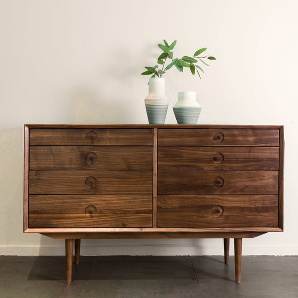 Luomu Solid Walnut Sideboard 胡桃實木8格抽屜邊櫃
