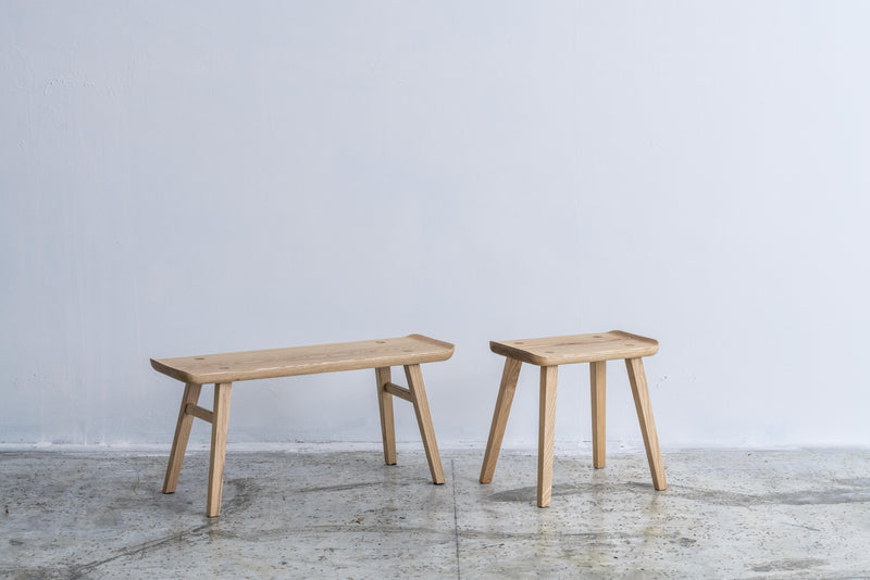 omós Ash Curved Edge Bench/Stool 白蠟木弧形邊凳