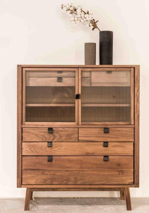 Luomu Walnut Retro 7-Drawer Sideboard 胡桃木懷舊7格儲物櫃