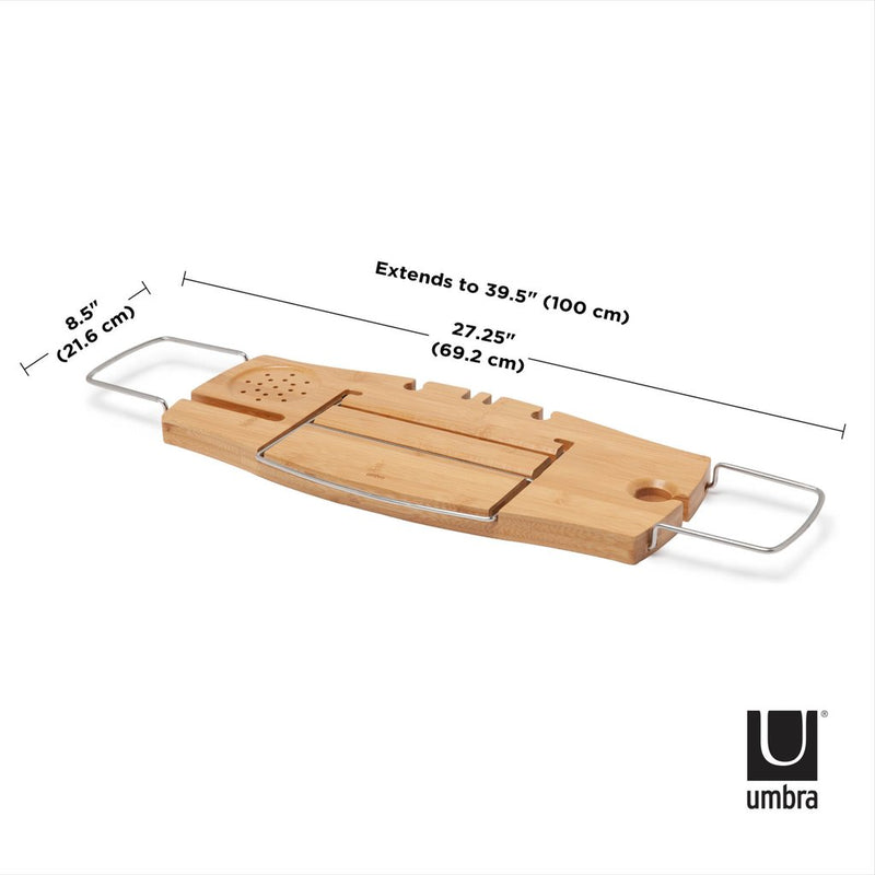 香港送貨|Delivery to HK | Umbra Aquala 浴缸托盤 Bathtub Caddy Natural | Umbra |Homie Living Mall 香港家居靈感購物