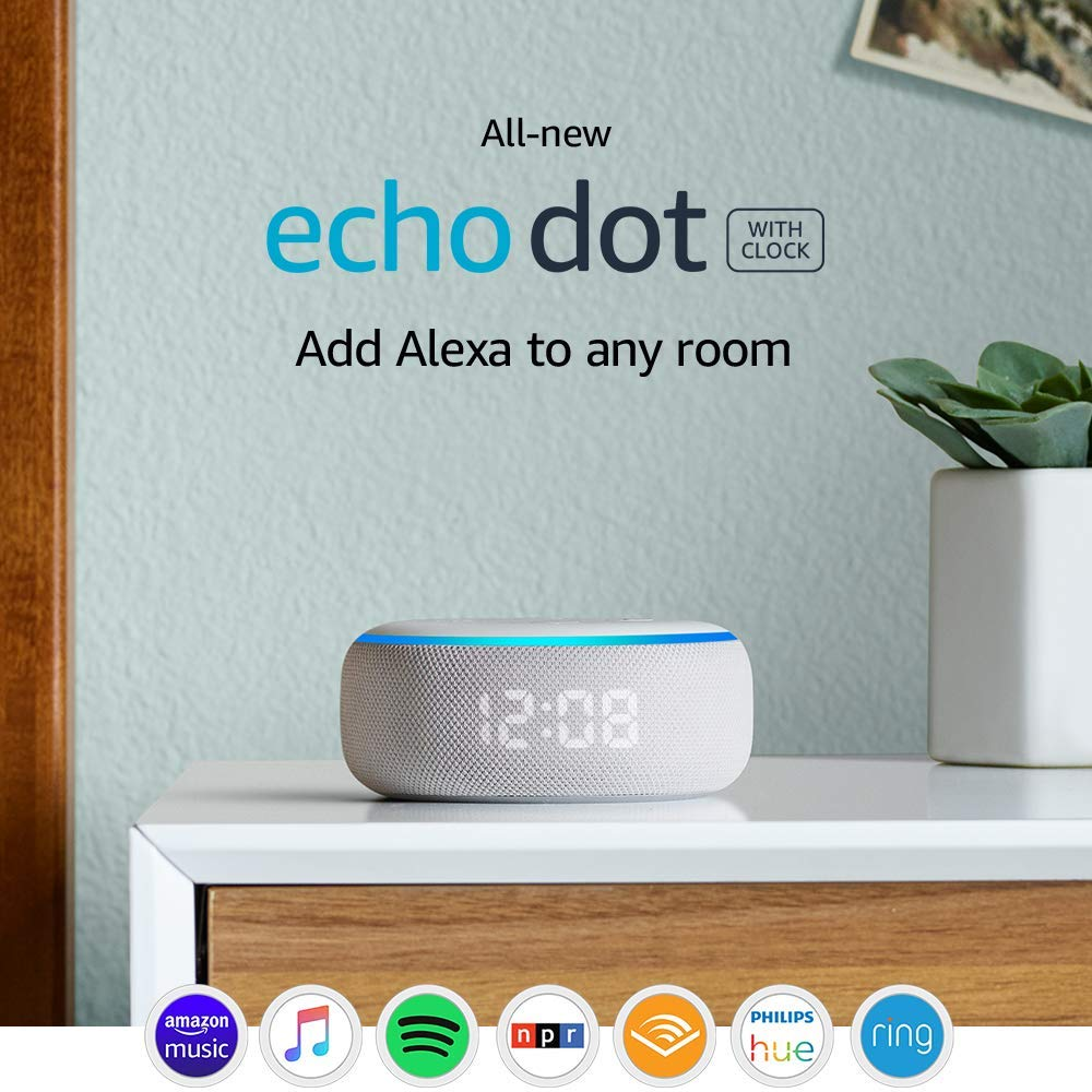Amazon Echo Dot 3rd Gen with Clock  (美版 平行進口) 智能喇叭