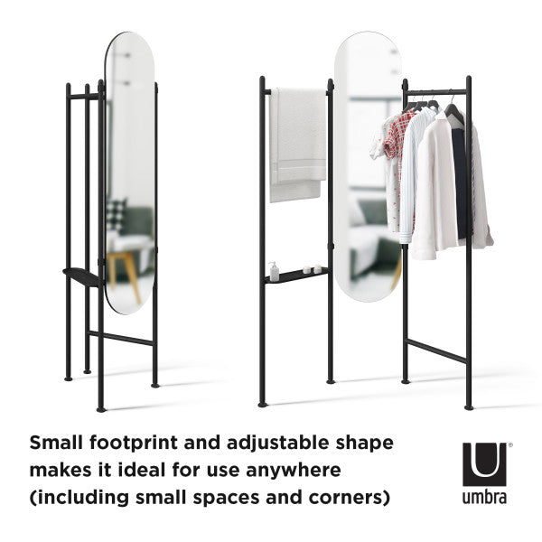 香港送貨|Delivery to HK | Umbra VALA FLOOR MIRROR 座地鏡, 黑色 | Umbra |Homie Living Mall 香港家居靈感購物