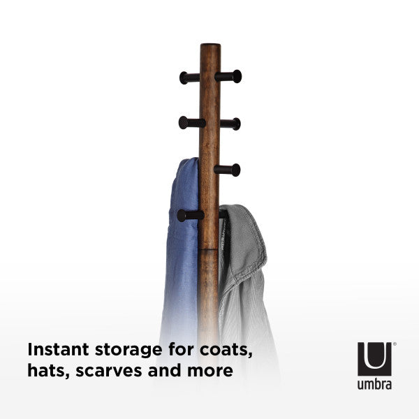 香港送貨|Delivery to HK | Umbra PILLAR COAT RACK 衣帽架, 胡桃木色 | Umbra |Homie Living Mall 香港家居靈感購物