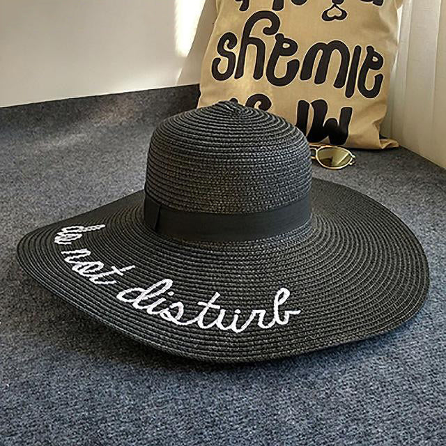 Embroidery Big Brim Sun Straw Hat For Women