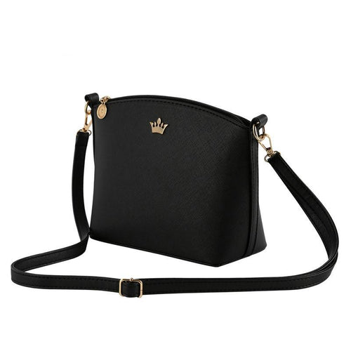 Classic Black Ladies Party Crossbody Shoulder Handbag