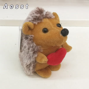AOSST  8Cm  Hedgehog mobile phone's accessories plush toys little simulation  hedgehog The girl toy festival small gifts