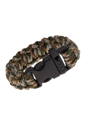 Paracord Emergency Survival Bracelet Rope With Whistle