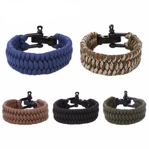 Outdoor Camping Rescue Paracord Bracelets For Emergency
