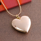 Heart Shaped Frame Locket Pendant For Necklace