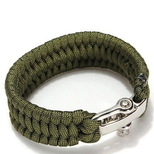 Survival Rope Paracord Bracelet For Outdoor Camping and Hiking
