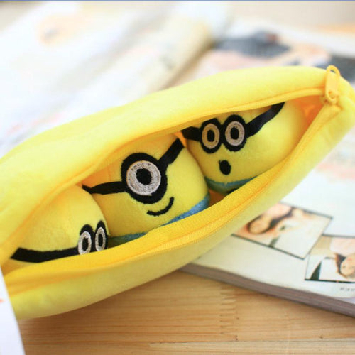 1pcs 30cm Despicable Me 2 Stuffed Plush toy doll film anime Minions pea banana style cotton hold pillow baby kids gift
