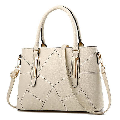 Luxury Handbag With Elegant Geometric Design