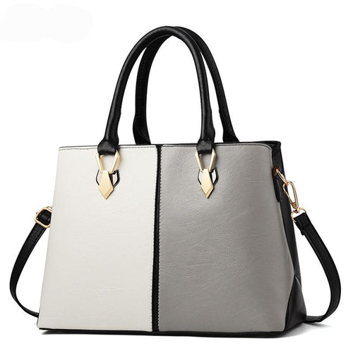 Luxury And Stylish Two-Tone Handbag