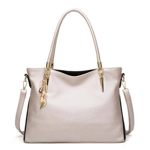 Designer Shoulder Bag in PU Soft Leather