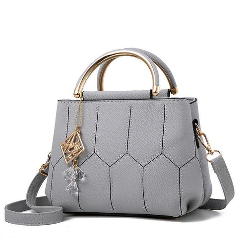 Elegant Small Shoulder Bag With Geometric Print