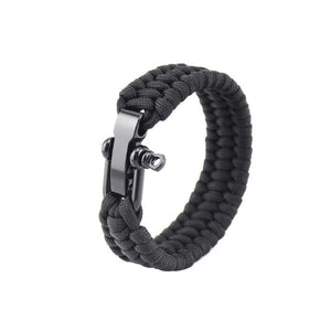 Outdoor Camping Hiking Emergency Survival Braided Paracord Bracelet