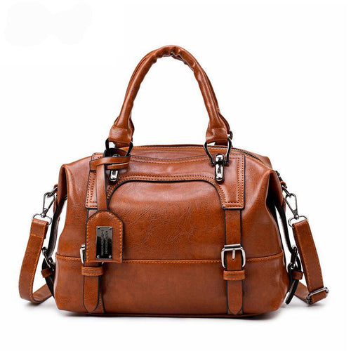 Vintage Soft Leather Crossbody Handbag