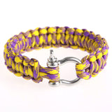 Stainless Steel Buckle Rope Paracord Bracelet For Hiking Survival