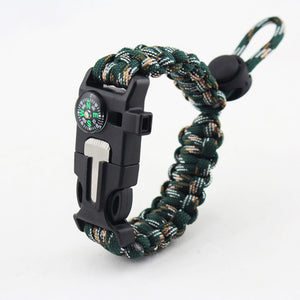 Emergency Paracord EDC Bracelet Multifunction for Field Survival