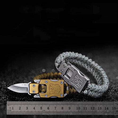 OutDoor Survival Multi-Functional Knife Paracord Bracelet