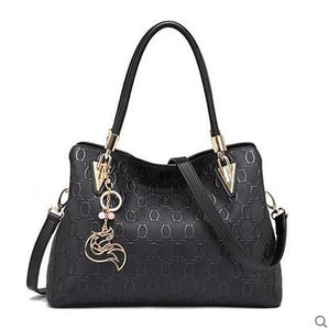 Elegant Cow Leather Tote Handbag
