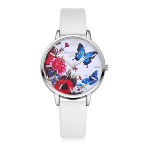 Silver Butterfly Luxury Watch