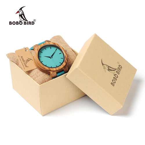 Turquoise Blue elegant Leather Watch For Women
