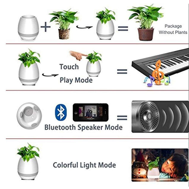 Plating Smart Bluetooth Musical Flower Pot Speaker