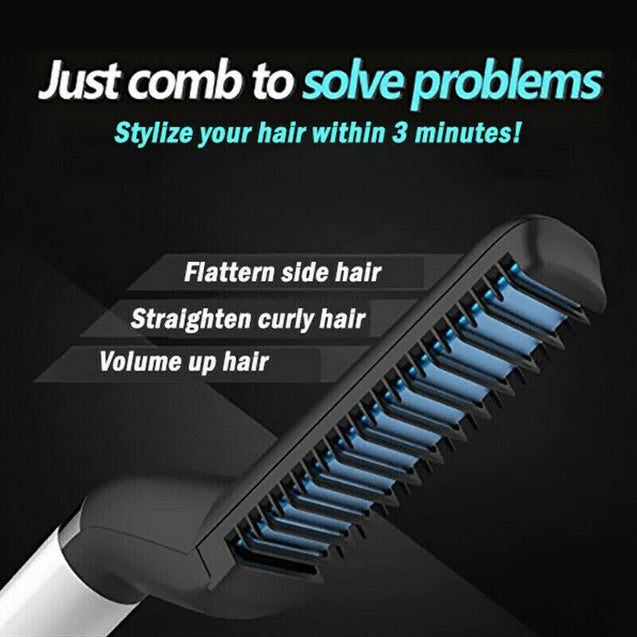 MULTI-FUNCTIONAL HAIR/BEARD STYLING TOOL FOR MEN, STRAIGHTEN OR CURL!