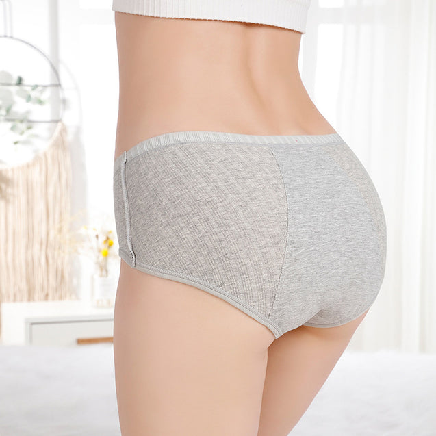 Cotton Mid Waist Period Panty