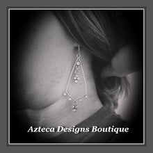 Load image into Gallery viewer, Lace+Hand Fabricated Argentium Silver+Earrings