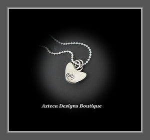Black Cat~Rosecut Black Onyx Sterling Silver Hand Fabricated Pendant Necklace