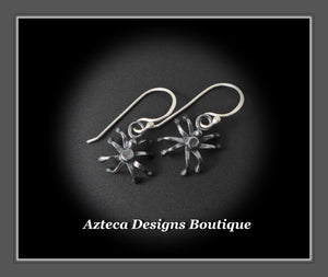 Spider Earrings Hand Fabricated Argentium Silver Halloween Spiders