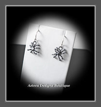 Load image into Gallery viewer, Spider Earrings Hand Fabricated Argentium Silver Halloween Spiders