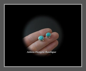Sierra Nevada Turquoise Hand Fabricated Sterling Silver + Copper Post Earrings Embracing Individuality