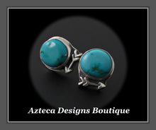 Load image into Gallery viewer, Sierra Nevada Turquoise Hand Fabricated Sterling Silver + Arrow Post Earrings Embracing Individuality