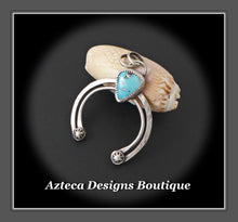 Load image into Gallery viewer, Natural Pinto Valley Turquoise + Sterling Silver Artisan Naja Pendant