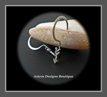 Load image into Gallery viewer, Sterling Silver + Arrow Minimalist Earrings