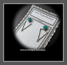 Load image into Gallery viewer, Fox Turquoise + Sterling Silver Distressed Post Earrings
